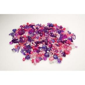 Plastpärlor Mix Lila/Rosa, 1000/fp
