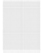 Arbetsblad A4 rut 5x5mm 500/fp