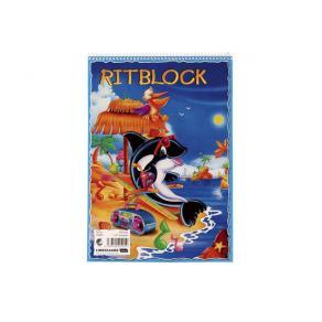 Ritblock A4, 80g, 80 ark, 10st