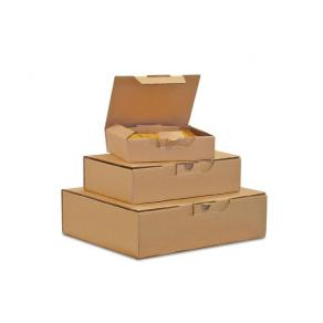 Kartong med förslutningslock, 308x220x44mm, brun, 25st