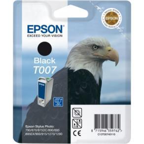 Epson T007 - 16 ml - svart - original - blister