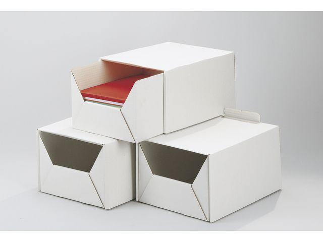 Arkivbox A4 Vit, 2-delad, 315x220x160mm, 10st 10st