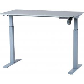 Skrivbord Höj-/sänkbart 120x60cm Grå