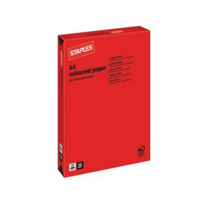 Kopieringspapper Röd A4, 120g, 250/bunt