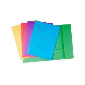 Mapp EXACOMPTA 2 klaff 280g, sorterade färger, 50/fp