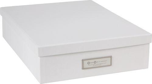 Toppen Förvaringsbox m.lock kartong A4 grå, endast 45 kr AN-32