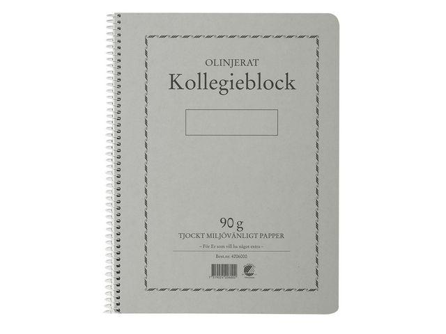 Kollegieblock A4, olinjerat, 90g 5st