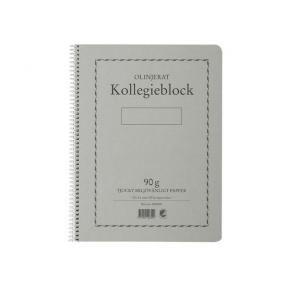 Kollegieblock A4, olinjerat, 90g
