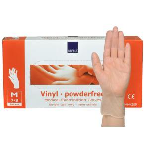 Handske ABENA Vinyl Puderfri M, ftalat- & latexfri, 100/FP