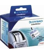 Etiketter Dymo LW Universal, vit, 89x41mm, 300/fp
