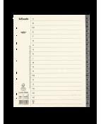Pappregister System Servo A4+ A-Ö grå