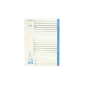 Pappersregister JOPA A4 A-Ö vit/blå