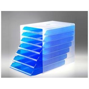 Blankettbox Idealbox Blå Transparent, 7 fack