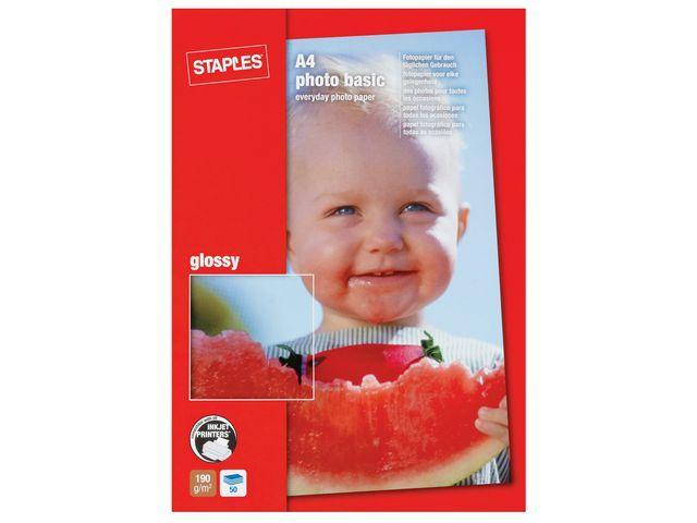 Fotopapper STAPLES Basic A4 glossy 50/FP