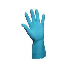 Skyddshandske latex/velour blå XS 1PAR