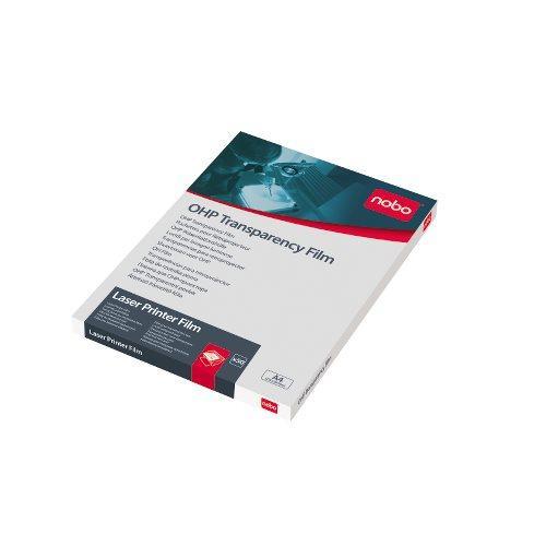 OH-film Laserskrivare svart/vit NOBO 33740, A4, 50/fp