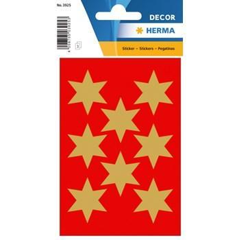 Herma stickers Decor stjärna ø33 guld (3) 10st