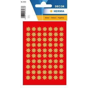 Herma stickers Decor stjärna ø10 guld (3) 10st