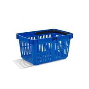 Kundkorg 27 liter blå