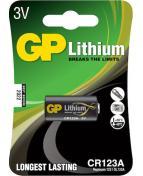 Batteri Lithium CR 123 Foto st