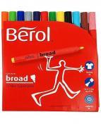 Fiberpenna BEROL Colourbroad 12 färger