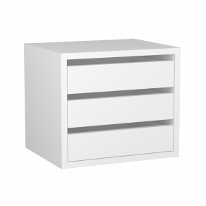 Lådinsats skåp vit/vit