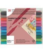 Textilpenna ZIG Fabricolor Twin 24/etui