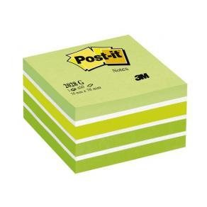 Post-It Kub Fresh Green, 76x76mm, 450 blad