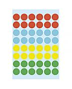 Herma etikett manuelll ø12 färgsorterad (240)
