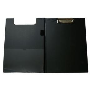 Skrivplatta A4 med omslag och klämma svart