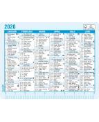 Kalenderkort årsöversikt, 100x77mm - 3135