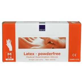 Handske latex puderfri M 100/f