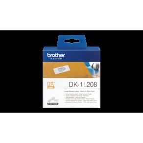 Etiketter BROTHER Adress Stor DK-11208, 38x90mm, 400/fp