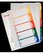 Pärmregister Plast ESSELTE Projektindex A4+ 1-5
