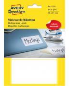 Etikett AVERY handskrift 98x51 vit 84/FP