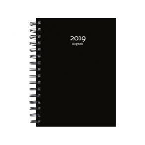 Dagbok, svart PP-plast - 1023