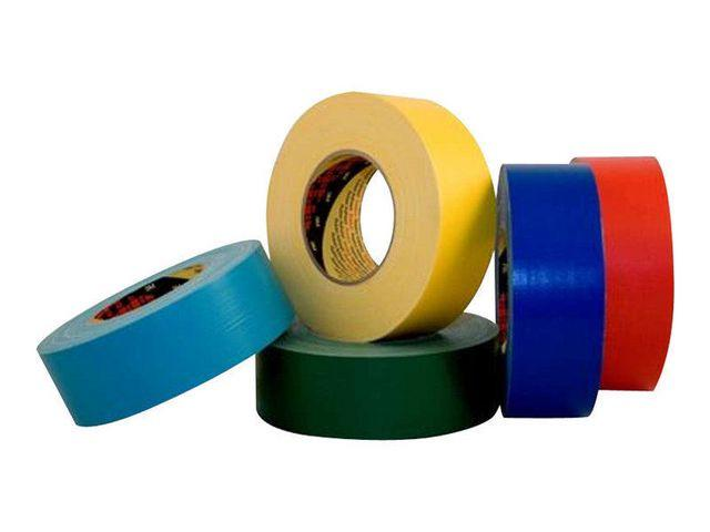 Tejp Textil Plastbelagd Vit, 50mm x 50m, 24/fp 24rl