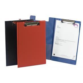 Skrivplatta med klämma och omslag svart 340x235mm