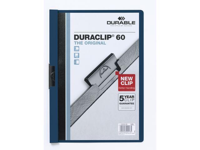 Klämmapp DURABLE Duraclip 2209 A4 6mm, mörkblå, 25st 25st