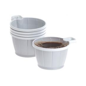 Kaffekopp Plast Silvert/Vit, 21cl, 50/fp