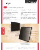 3M Sekretessfilter med ram 24 tum wide 16:9
