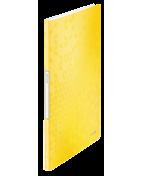 Demobok Leitz WOW PP 40 fickor gul