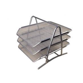 Brevkorgsset Nät Silver, metall, 3 fack, 300x360x260mm