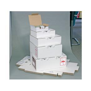 Kartong med lock och lås, 180x140x50mm, vit, 25st
