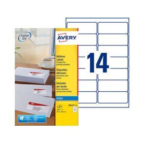 Etikett AVERY QuickDRY 99,1x38,1 350/FP