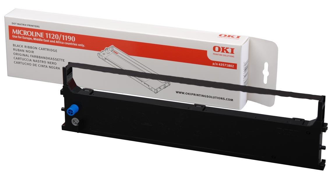 OKI - 1 - svart - färgband - för OKI ML1120