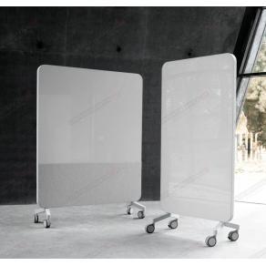 Skrivtavla Lintex Mobile Fabric, 1500x1960mm, grå stativ