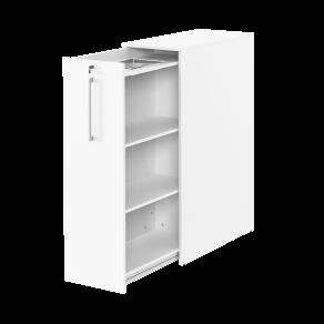 3xA4 sidoskåp inkl pennfackshylla Vänster 400x800x1320  vit/vit
