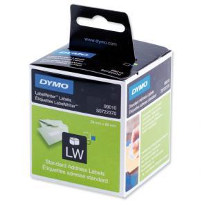 Etiketter Dymo LW Adress, vit, 89x28mm, 2x130/fp