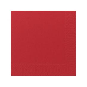 Servett Röd, 3-lager, 33x33cm, 125/fp